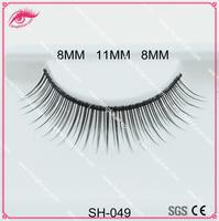 Synthetic hair eyelashes, natural color eyelashes, most popular false eyelashes