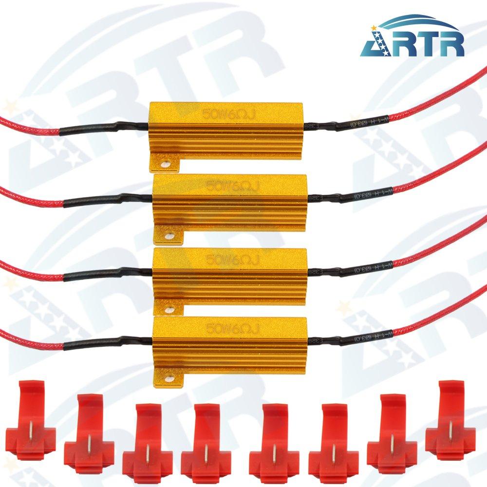 Buy 4pcs 50w 6ohm Load Resistor For Car Turn Signal Led Bulb In Wiring Diagram Artr Resistors Fix Fast Hyper Flash Blink