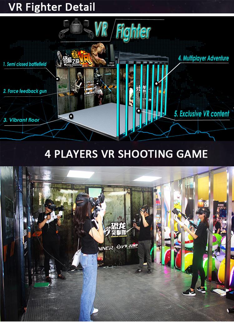 VR multiplayer a piedi 4 lettore di realtà virtuale di movimento simulatore di piattaforma 9d vr interattivo gioco di tiro vr playstation 4