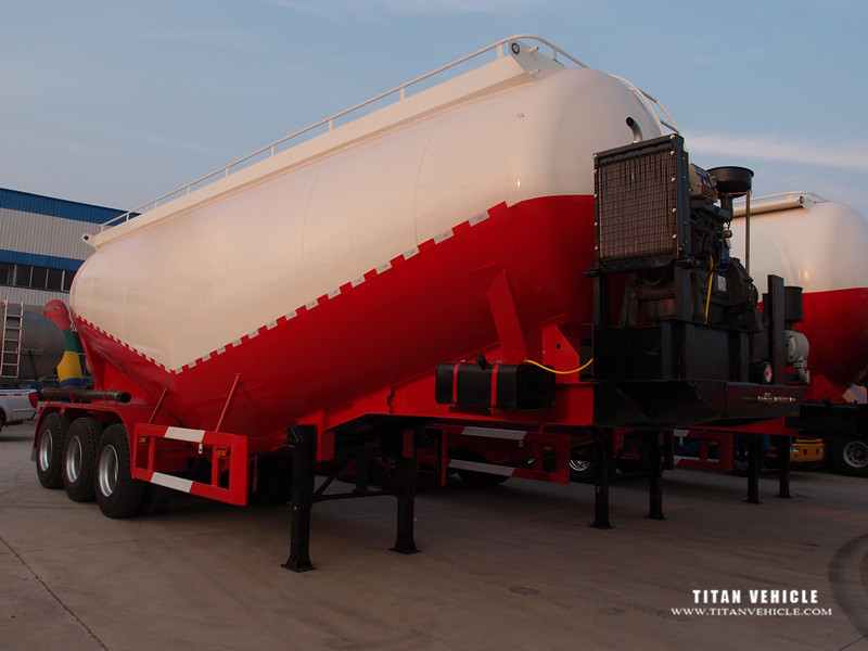 New Top Ranking Bulk Cement Tank Semi Trailer with air compressor and diesel engine
