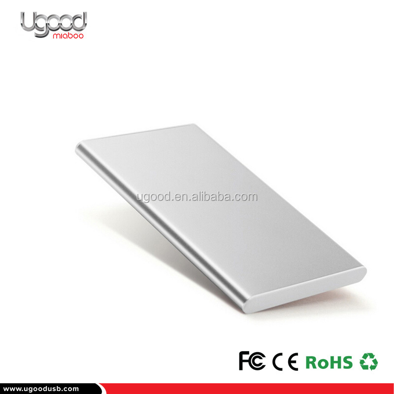 Metal Sleek Power Bank Capacity 4000Mah Mobile charger For Promotional Giveaways