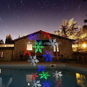 Christmas Party LED Stage Light Moving Snowflake Snow solar Laser Projector Lamps