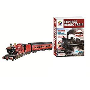 BuW Deluxe Edition Super Big 83cm Trains Model 3D Puzzle Educational Toys with 201pcs Assembly,creative toys of boys girls preschool education games & puzzles hobby