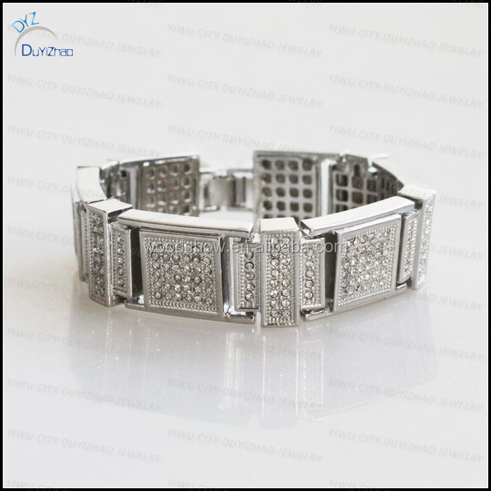 Fashion Fake Diamond Bracelets For Men Whole Jewelry