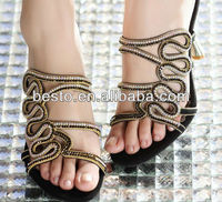 wholesale Charm rhinestone shoe upper for sandal upper accessories