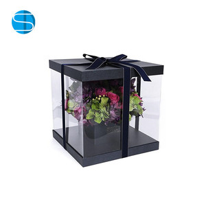 Wholesale Transparent Square Flower Box Clear PVC/PET Box