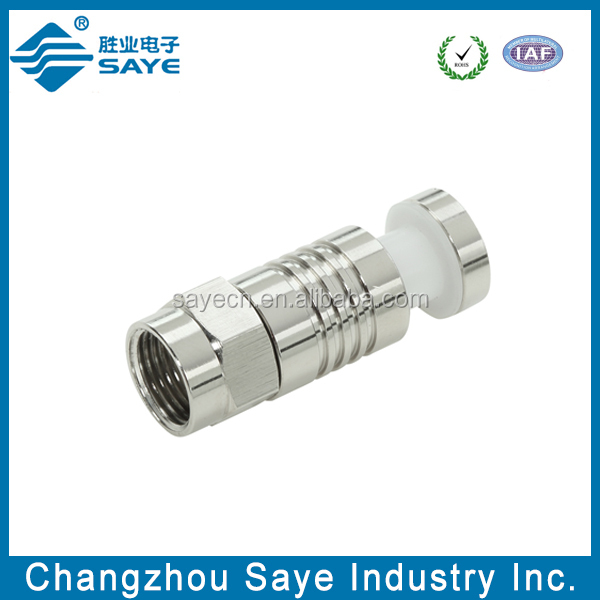 compression F male rf 6 cable connector