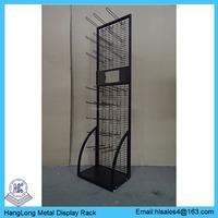 Metal mesh grid wall rack shelves with hanging hooks HL-L012