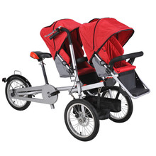 2017 hot sale mother baby tandem bike electric baby stroller