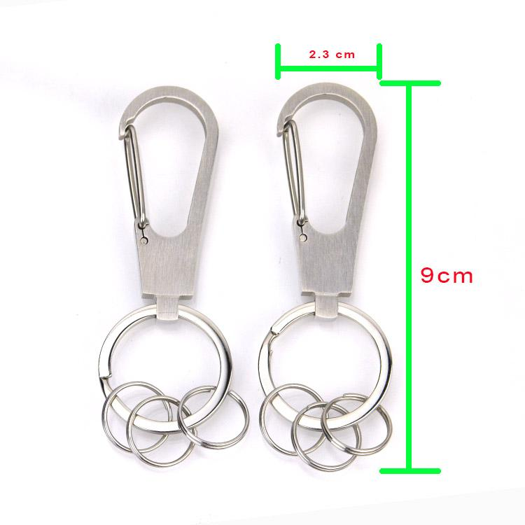 Promotional Customized Plate Keyholder Metal Clip Keychain Blank Hook for Engraving Logo