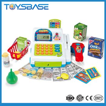 Hot Selling Cartoon Pretend Play Toy Cash Register Mini Kids
