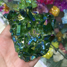 Wholesale multicolor Green Angel Aura Cluster crystal cluster
