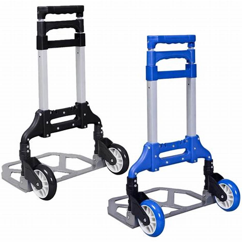 Kommerziellen Möbel Möbel Tragbare Aluminium Warenkorb Klapp Dolly Push Lkw Hand Faltbare Trolley Gepäck