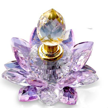 Beautiful Crystal Lotus Flower Perfume Bottle Buy Black Crystal