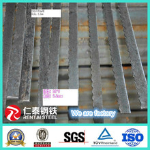 Hot rolled serrated flat bars for grating