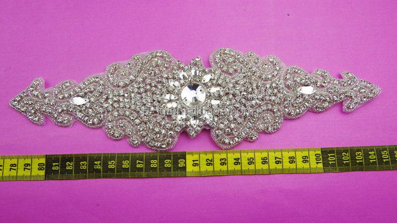 Ingrosso cucire su grandi perle e strass di cristallo da sposa