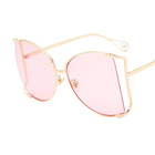 Oversized Square Sunglasses Women 2018 New Big Frame Pearl Decoration Clear Lens Sun Glasses for Women