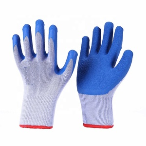 RAMSAFETY 21G/10G High quality durable 100% cut resistant fiber work safety glove with latex coating dipped work thin glove