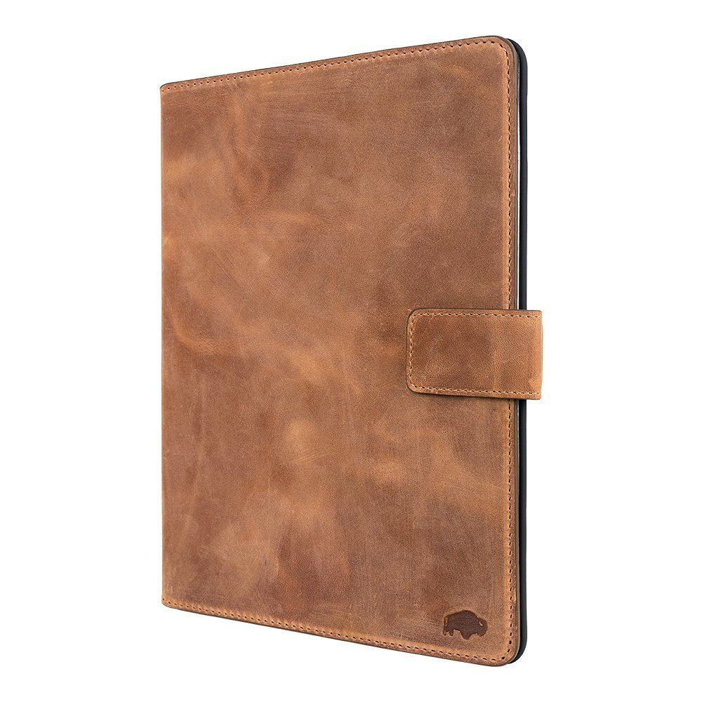 "Burkley Premium Luxury Leather Wallet Folio Case for Apple iPad Pro 9.7"" Handmade Genuine Leather iPad Case to fit perfectly to Apple iPad Pro 9.7"" (Antique Camel)"