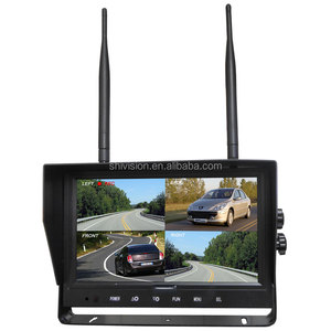 9 Inch 128G LCD Monitor + CMOS 700TVL 2.4G Digital Wireless Systems Car Rear View Wireless Backup Camera Kit For Truck
