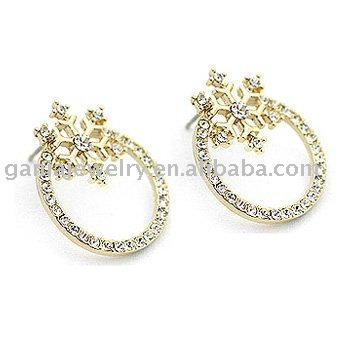 Fashion Christmas Jewelry, Christmas Snowflake Stud Earring
