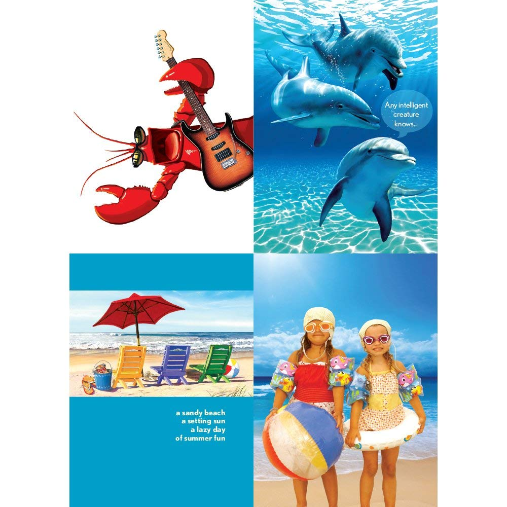 Get Quotations Tree Free Greetings Happy Beach Birthday Wishes Card Assortment 5 X 7 Inches