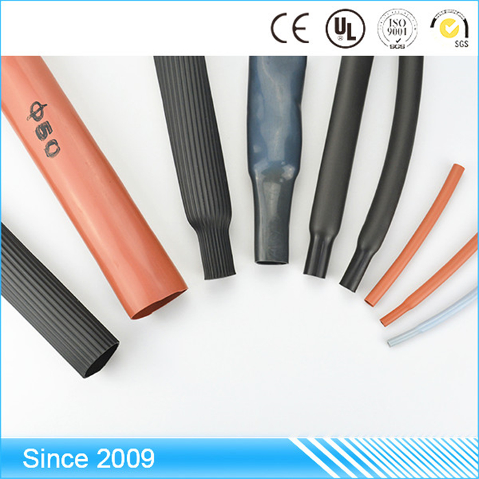 popular house appliances flexible free label design thin wall heat shrikable silicone rubber tube