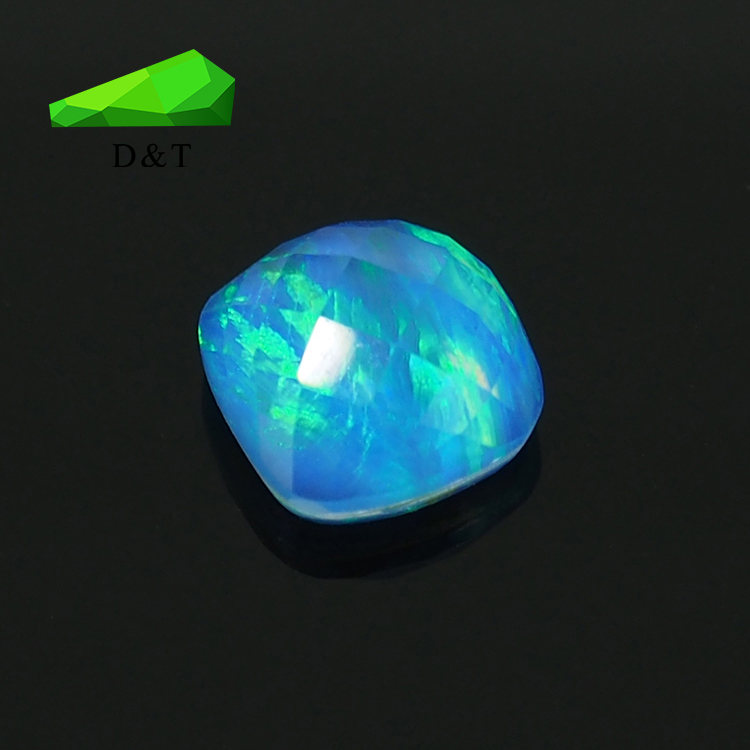 High quality ethiopian diamond cut synthetic opal loose gemstone for sale