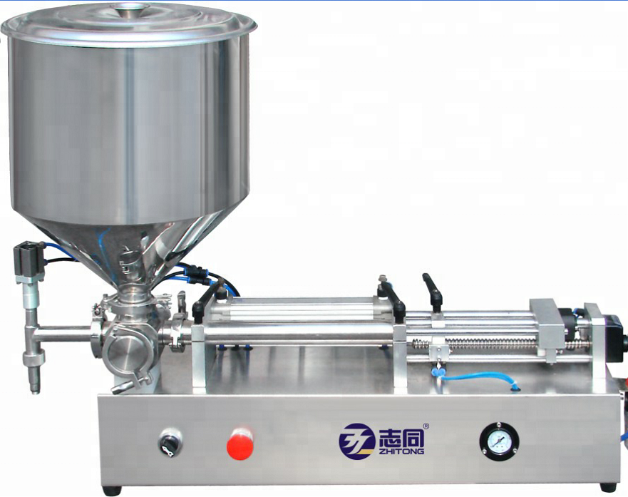 Customized Baby Bath Filling Machine, Single Head Pneumatic Vertical Filling Machine