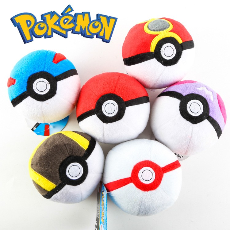 Colourful cartoon big plush gifts stuffed toy pokeball pokemon