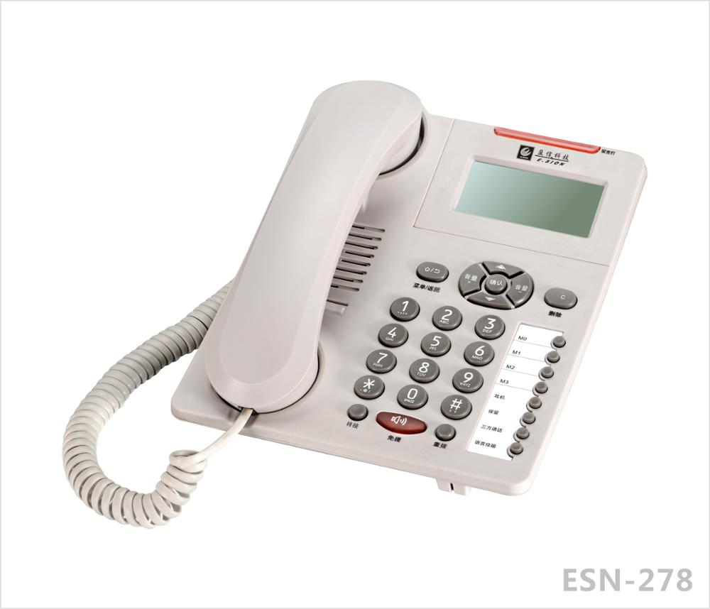 ESN-278A corded telephone desktop phone caller ID telephones landline phones office telephone home phone