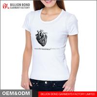 Best Quality Custom Cotton Printing Ladies Tops Short Sleeve T-shirt Women