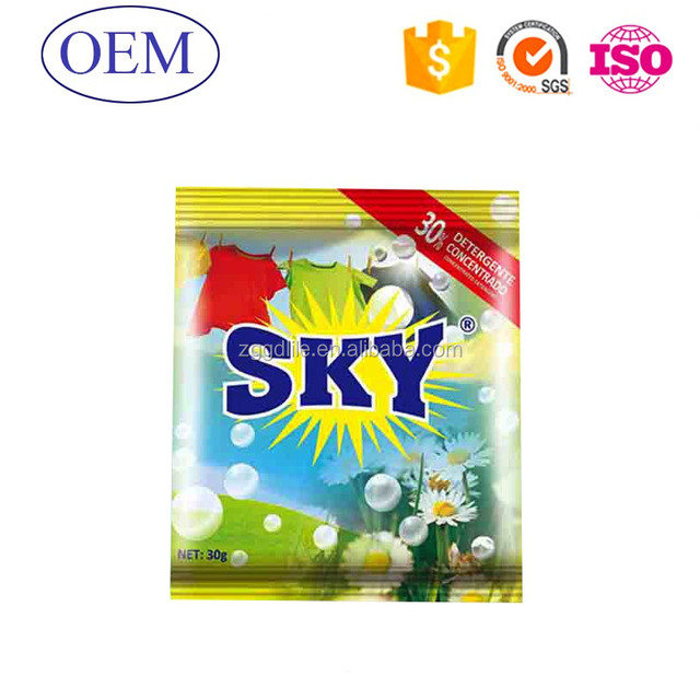 30g SKY Small Package Soap washing powder From China Factory