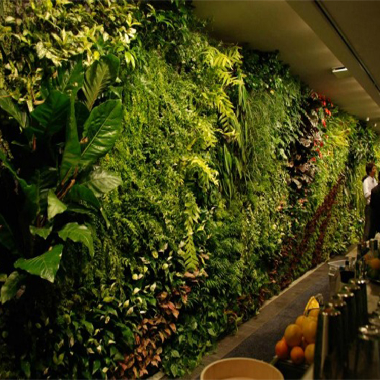 In High Quality Plastic Artificial Vertical Green Wall For Gardon Ornaments