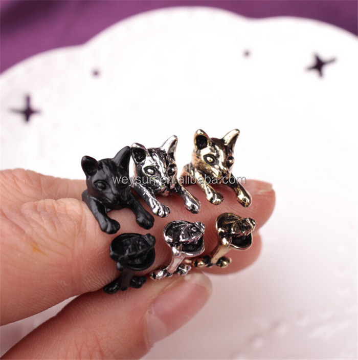 Vintage Handmade Cute Animal Cat <strong>Ring</strong> for Women Girls Men Christmas Kitty Tail Fashion Party Jewelry Pet Lover Gift Accessories