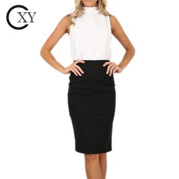 702ad449d Custom Women High Waist Long Black Tight Office Pencil Skirt - Buy ...