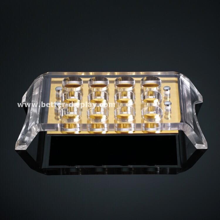 custom acrylic plastic shot glass serving tray