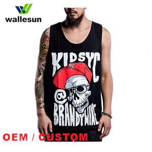 Design Your Own Stringer Tank Top Singlet, Unisex Stringer Tank Top China factory