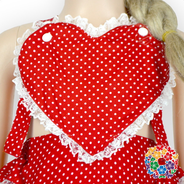 Top Quality Baby Valentines Day Romper 0-6 Years Old Baby Cotton Rompers Plain Red Baby Girls Rompers With White Dots
