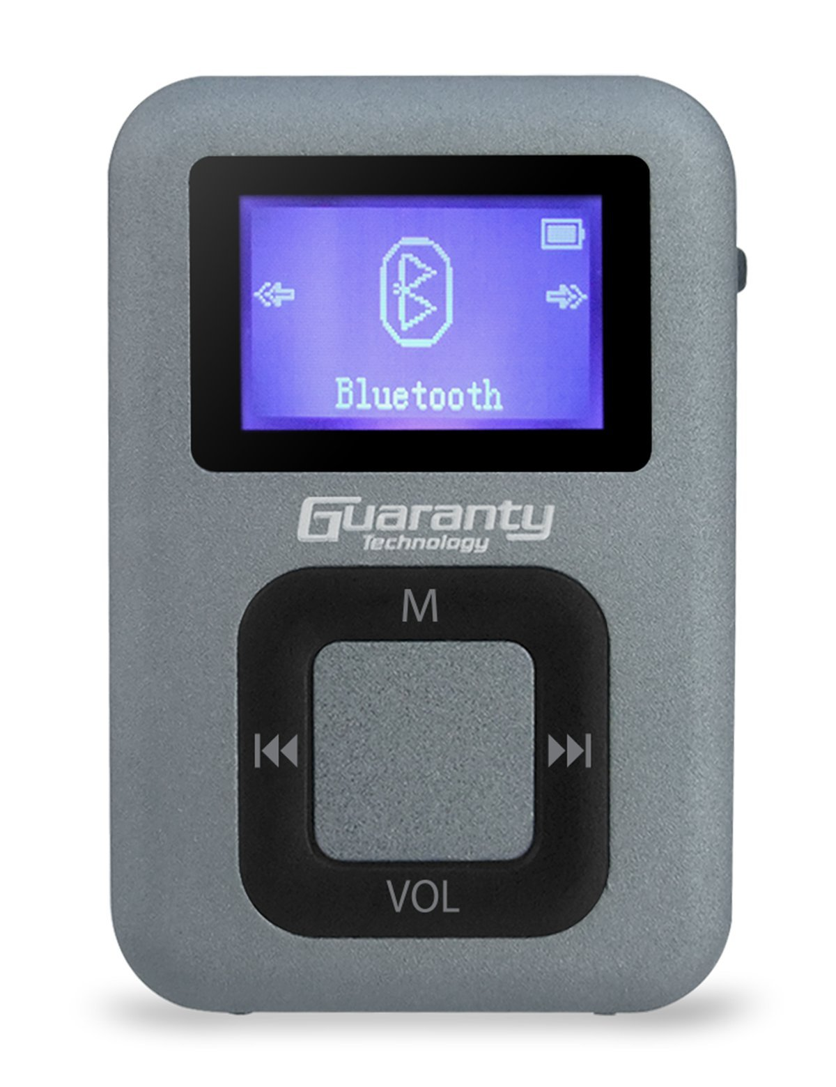 MP3 Music Player with Bluetooth and FM Radio for Running, Guaranty 8GB Clip Portable Audio Player [with wired earphone], Gray