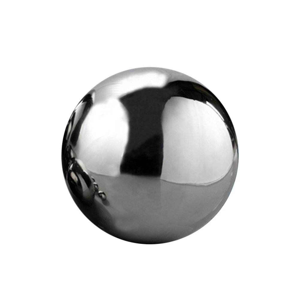 eronde Silver Stainless Steel Gazing Balls Mirror Polished Hollow Ball Garden Sphere