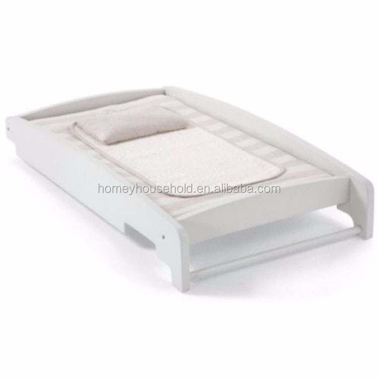 Manufacturer simple design safe white wooden tray for baby furniture