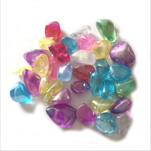 Wholesale High Quality Electroplate Aura Quartz Gravel Crystal Stones For Feng Shui