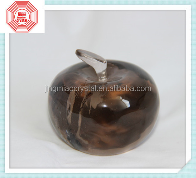 new product best seller Unique natural crystal smoky apple for wedding gift