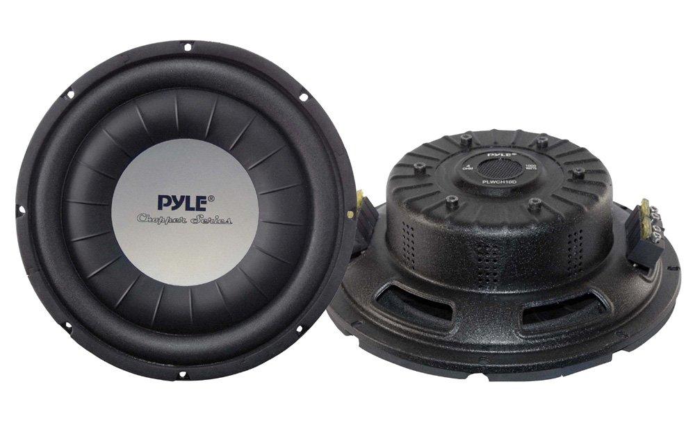PYLE PLWCH10D 10-Inch 1000 Watt Ultra Slim DVC Subwoofer