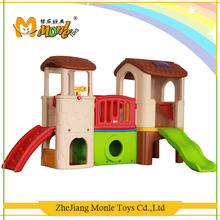 Indoor playground cheap children toy kids slides combination blow molding play house
