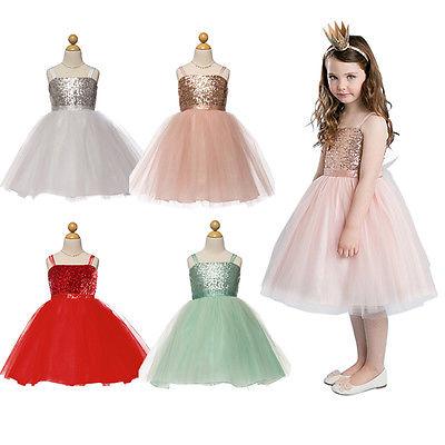 2016 New Baby Girls font b Dress b font Flower Kids Baby Princess Sequin Gown font