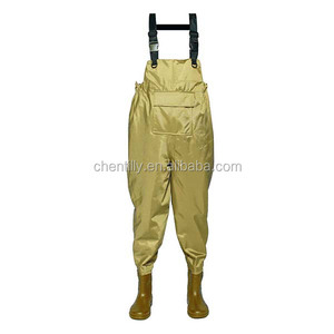 CHN-81204 420D nylon fabric and pvc shoes adjustable fashion fishing waders