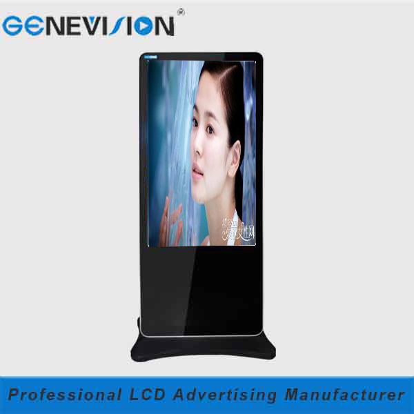3G WIFI LAN Network 55 inch indoor floor standing lcd tv advertising player