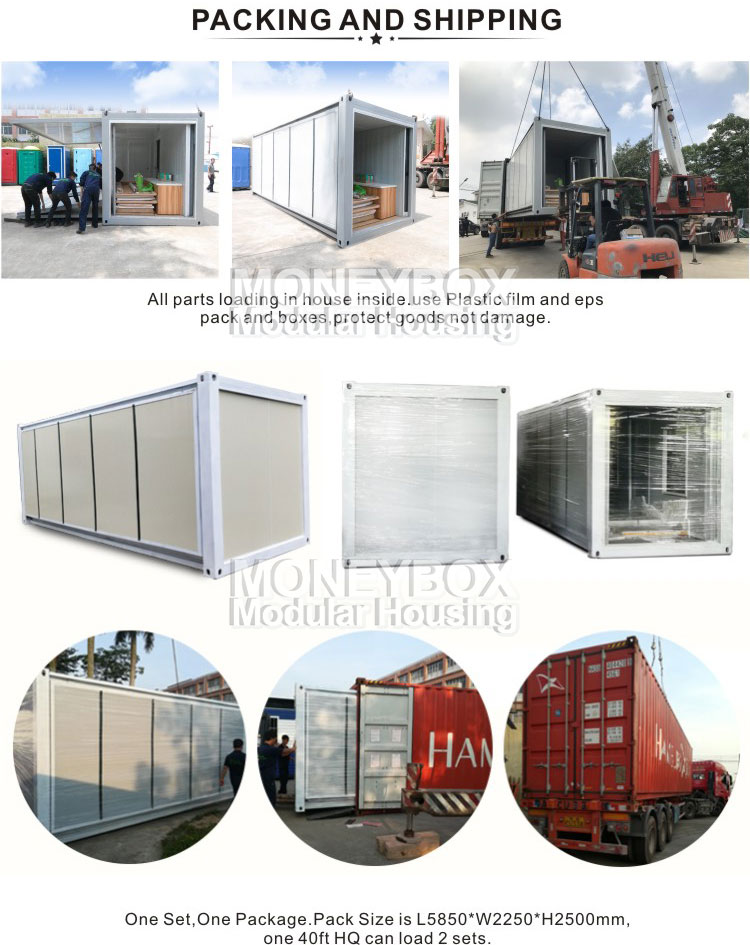 Factory portable ready made expandable container house folding container house
